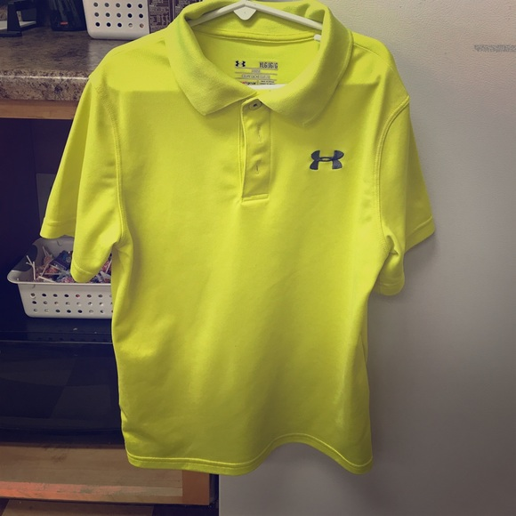 cbdc5d24 Under Armour Shirts & Tops   Neon Yellow Collared Youth Large   Poshmark